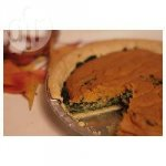 Marbled Spinach and Pumpkin Egg Bake