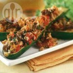 Baked stuffed courgettes