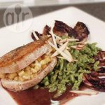 Pork Chops with Apple and Gorgonzola Cheese