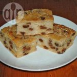 Traditional bread pudding with a modern look
