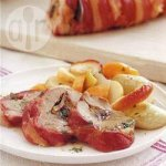 Stuffed roast pork with prunes