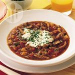 Duck goulash soup