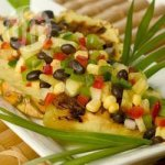 Tropical Pineapple and Black Bean Salsa