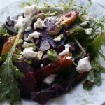 Roasted Beetroot, Peach and Goat Cheese Salad