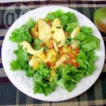 Warm Ginger and Mango Chicken Salad