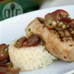 Grilled Tuna with Grape Salsa