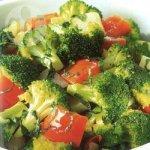 Basil-scented sautéed vegetables