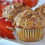 Wholemeal pumpkin muffins