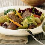New England simmered beef