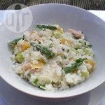 Creamy Trout Leek and Asparagus Risotto