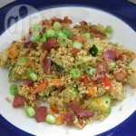 Couscous Salad with Chickpeas, Bacon and Curried Vinaigrette