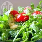 Easy Rocket, Cherry Tomato and Pinenut Salad
