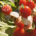 Prosciutto, Tomato, Mozzarella and Basil Skewers