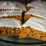 Pumpkin traybake with cream cheese icing