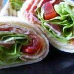 BLT tortilla wraps