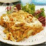 Flageolet bean and lentil lasagne