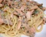 Cheesy Salmon Pasta recipe (Pasta)