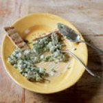 Crushed Peas with Feta and Scallions