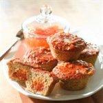 Apricot Pecan Layered Muffins
