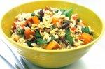 Risoni, pumpkin & green shallot salad