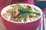 Three-mushroom noodles