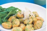 Kumara gnocchi with rocket pesto