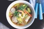 Prawn & dumpling soup