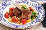 Lamb cutlets with braised cannellini beans & rosemary