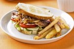 Steak sandwiches & chips