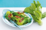 Baby pak choy with chilli and black bean sauce