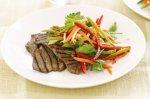 Teriyaki beef with Asian slaw