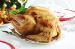 Orange & mustard roast turkey with walnut & bacon stuffing