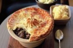 Mutton pie with potato pastry