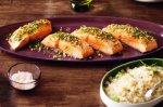 Parsley & pine nut salmon with zesty couscous