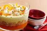 Apricot trifle with pistachio and rosewater