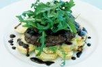 Steak with balsamic glaze and warm potato salad
