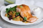 Jewelled couscous with ocean trout