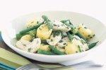 Lemon poached chicken and potato salad