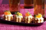 Cream cheese and smoked salmon mini vol au vents