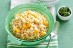 Spicy pumpkin microwave risotto