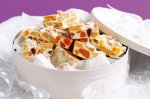 Apricot and white chocolate Granita slice