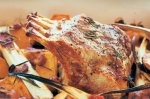Pork rack roast with parsnip & sweet potato